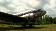 DC3 at airfield Cape Cod; 4 Stock Footage
