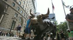 Wall Street Bull Stock Footage