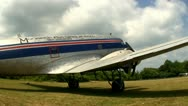 DC3 at airfield Cape Cod; 5 Stock Footage