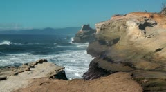 Cape Kiwanda 08 Stock Footage