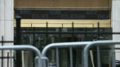 NYSE Ticker 1 Stock Footage