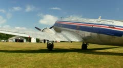 DC3 at airfield Cape Cod; 7 - stock footage