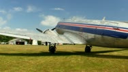 DC3 at airfield Cape Cod; 7 Stock Footage