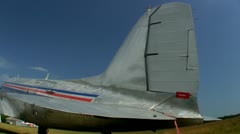 DC3 at airfield Cape Cod; 6 Stock Footage