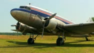 DC3 at airfield Cape Cod; 9 Stock Footage