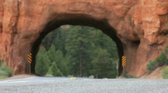 Bryce Tunnel 3 - stock footage
