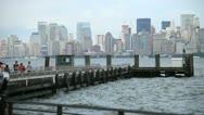 NYC Skyline Pier Stock Footage