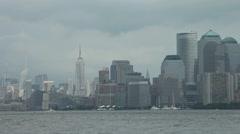 NYC Skyline AM 2 Stock Footage