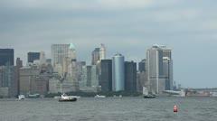 NYC Skyline AM 3 - stock footage
