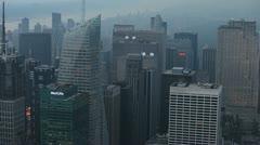Aerial NYC Dusk 9 Stock Footage
