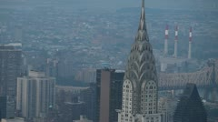 Aerial Chrysler Bldg - stock footage