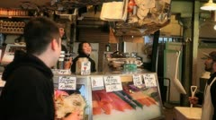 Fish Market 2 - stock footage