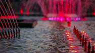 Fountain in the city Stock Footage