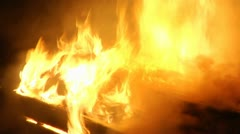 Coffin on fire 06 Stock Footage