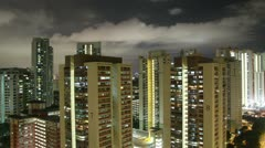 HD night timelapse of Singapore residential district Stock Footage