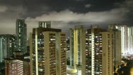 Stock Video Footage of HD night timelapse of Singapore residential district