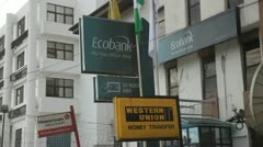 Different banks In Africa, Nigeria, Port Harcourt Stock Footage