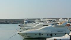 Zaitunay Bay in Beirut, Lebanon Stock Footage