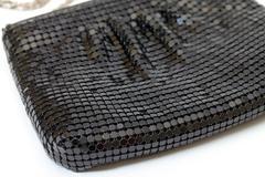 Classic black handbag, closeup Stock Photos