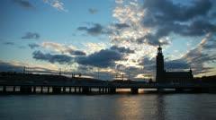Stockholm city hall timelapse Stock Footage