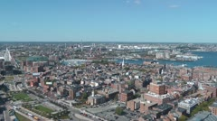 North End Boston Stock Footage