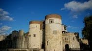 Tower of London, castle covered by shadows Stock Footage