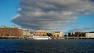 Stockholm city, riverside timelapse Stock Footage