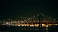 bay bridge night - stock footage