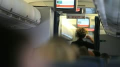 Flight Attendant 2 Stock Footage