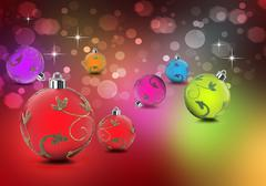Christmas in bright colors shining against background Stock Photos