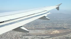 Airplane Wing 2 - stock footage