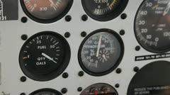 Flight Gauges 1 Stock Footage
