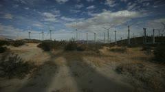 Wind Turbine Shadow Stock Footage