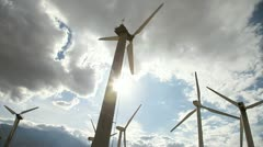 Wind Turbines 2 Stock Footage