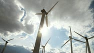Stock Video Footage of Wind Turbines 2