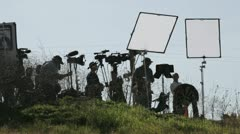 News Crew Stock Footage