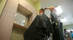 Cutting Hair 3 Stock Footage