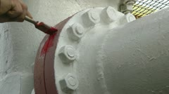 construction of oil pipeline - stock footage