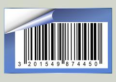 Bar code sticker Stock Illustration