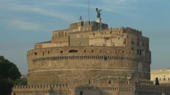 Castle and Bridge of Sant 'Angelo. Stock Footage