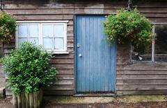 old garden potting shed - stock photo