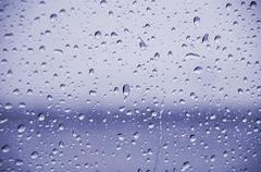 blue rain drops - stock photo
