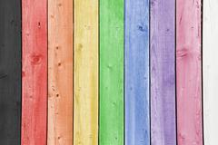 Rainbow planks Stock Photos