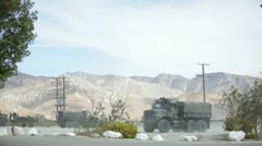 Military Convoy 3 - stock footage
