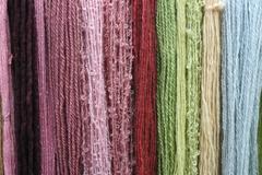 coloured wool - stock photo