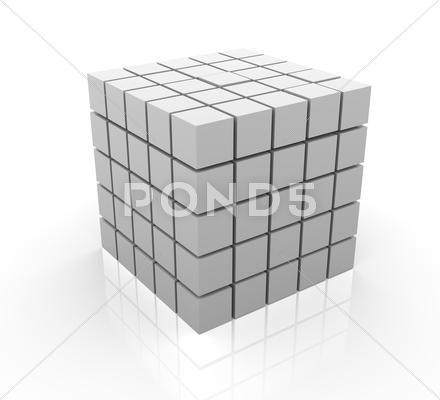 Stock Illustration of 3d cubes