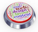 Web design button Stock Illustration