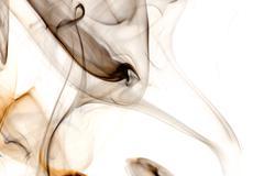 Dark Smoke on a White Background - stock photo