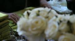 Wedding Napkins Stock Footage