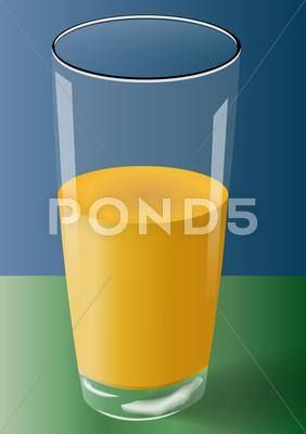 Stock Illustration of mango juice glass